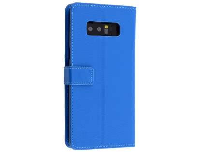 Synthetic Leather Wallet Case with Stand for Samsung Galaxy Note8 - Blue Leather Wallet Case