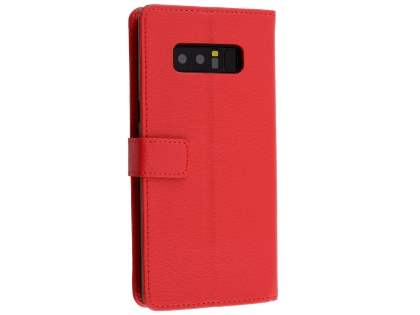 Synthetic Leather Wallet Case with Stand for Samsung Galaxy Note8 - Red Leather Wallet Case