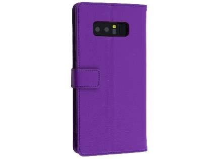 Synthetic Leather Wallet Case with Stand for Samsung Galaxy Note8 - Purple Leather Wallet Case