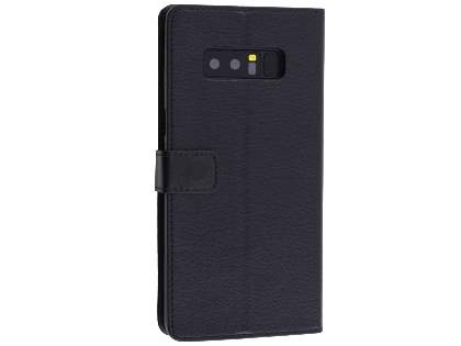 Synthetic Leather Wallet Case with Stand for Samsung Galaxy Note8 - Black Leather Wallet Case