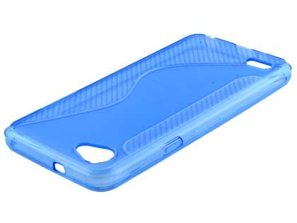 Wave Case for LG Q6 - Blue Soft Cover