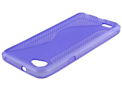 Wave Case for LG Q6 - Purple Soft Cover