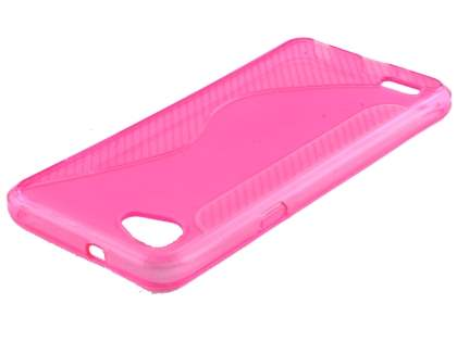 Wave Case for LG Q6 - Pink Soft Cover