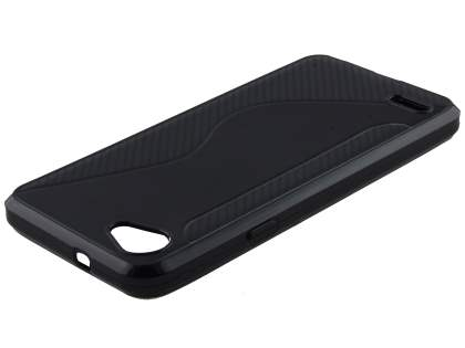 Wave Case for LG Q6 - Classic Black Soft Cover