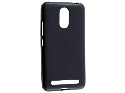 Frosted TPU Gel Case for Telstra 4GX Premium - Classic Black Soft Cover