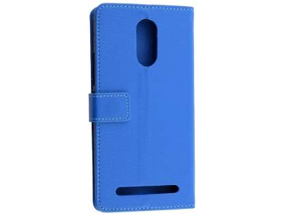 Synthetic Leather Wallet Case with Stand for Telstra 4GX Premium - Blue Leather Wallet Case