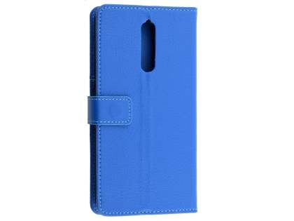 Synthetic Leather Wallet Case with Stand for Nokia 8 - Blue Leather Wallet Case