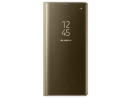 Genuine Samsung Galaxy Note8 Clear View Standing Cover Case - Gold S View Cover