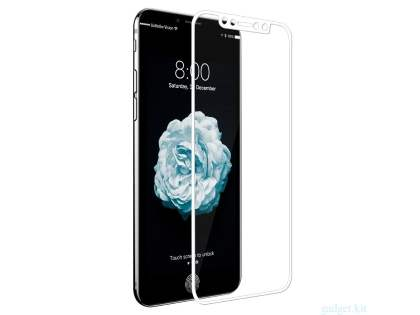 3D Full Coverage Tempered Glass Screen Protector for Apple iPhone X - White Screen Protector