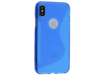 Wave Case for Apple iPhone X - Blue Soft Cover