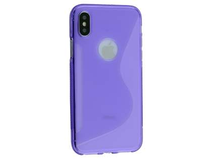 Wave Case for Apple iPhone X - Purple Soft Cover