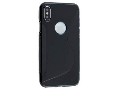 Wave Case for Apple iPhone X - Black Soft Cover