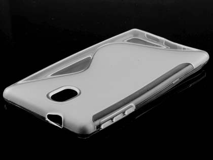 Wave Case for Nokia 3 - Frosted Clear/Clear Soft Cover