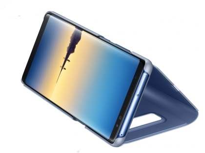 Genuine Samsung Galaxy Note8 Clear View Standing Cover Case - Deep Blue