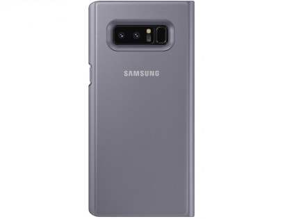 Genuine Samsung Galaxy Note8 Clear View Standing Cover Case - Orchid Gray
