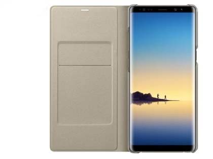 Genuine Samsung Galaxy Note8 LED View Cover - Gold