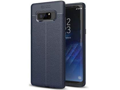 Leather Look Gel Case for Samsung Galaxy Note8 - Navy Soft Cover