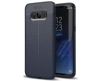 Leather Look Gel Case for Samsung Galaxy S8 - Navy Soft Cover