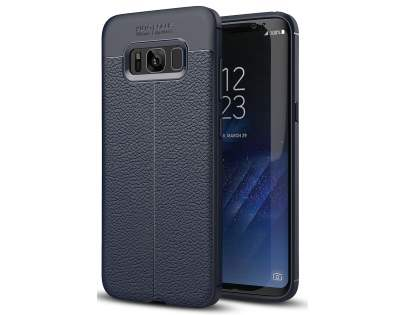 Leather Look Gel Case for Samsung Galaxy S8+ - Navy Soft Cover