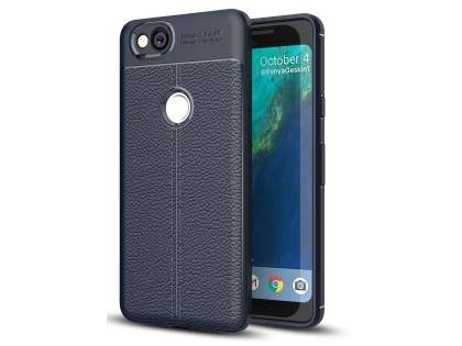 Leather Look Gel Case for Google Pixel 2 - Navy Soft Cover