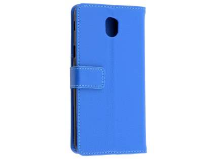 Synthetic Leather Wallet Case with Stand for Samsung Galaxy J5 Pro (2017) - Blue Leather Wallet Case