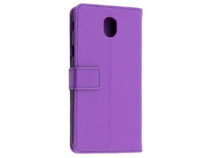 Synthetic Leather Wallet Case with Stand for Samsung Galaxy J5 Pro (2017) - Purple Leather Wallet Case