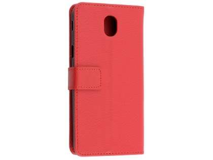 Synthetic Leather Wallet Case with Stand for Samsung Galaxy J5 Pro (2017) - Red Leather Wallet Case