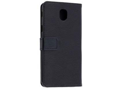 Synthetic Leather Wallet Case with Stand for Samsung Galaxy J5 Pro (2017) - Black Leather Wallet Case