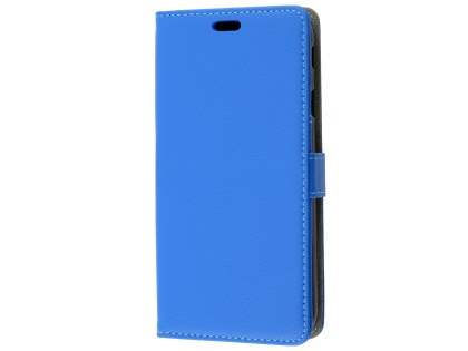 Synthetic Leather Wallet Case with Stand for Samsung Galaxy J7 (2017) - Blue