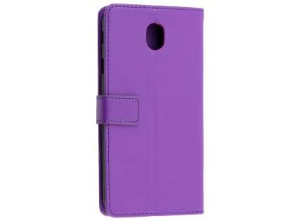 Synthetic Leather Wallet Case with Stand for Samsung Galaxy J7 Pro (2017) - Purple Leather Wallet Case