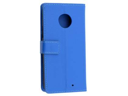 Synthetic Leather Wallet Case with Stand for Motorola Moto X4 - Blue Leather Wallet Case
