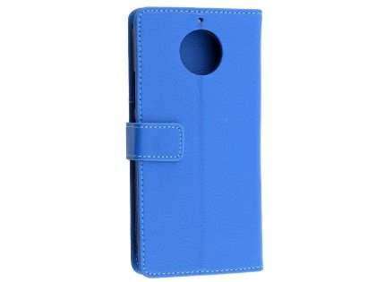 Synthetic Leather Wallet Case with Stand for Motorola Moto G5S - Blue Leather Wallet Case