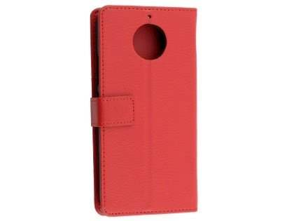 Synthetic Leather Wallet Case with Stand for Motorola Moto G5S - Red Leather Wallet Case