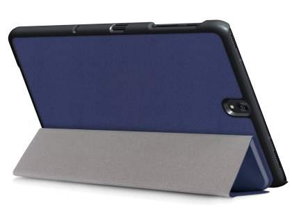 Slim Synthetic Leather Flip Case with Stand for Samsung Galaxy Tab S3 9.7 - Navy Leather Flip Case