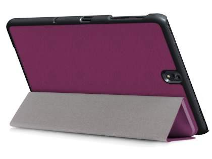 Slim Synthetic Leather Flip Case with Stand for Samsung Galaxy Tab S3 9.7 - Purple Leather Flip Case