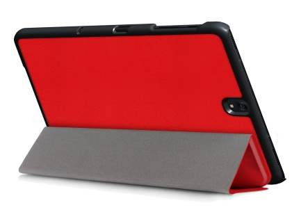 Slim Synthetic Leather Flip Case with Stand for Samsung Galaxy Tab S3 9.7 - Red Leather Flip Case