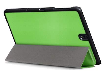 Slim Synthetic Leather Flip Case with Stand for Samsung Galaxy Tab S3 9.7 - Green Leather Flip Case