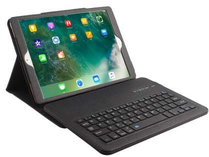 Synthetic Leather Bluetooth Keyboard Case for iPad Pro 10.5 - Black Keyboard