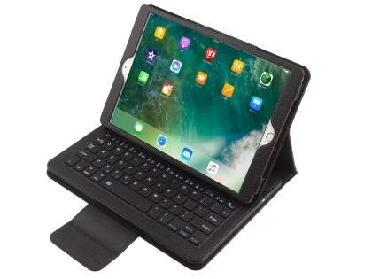 Synthetic Leather Bluetooth Keyboard Case for iPad Pro 10.5 - Black