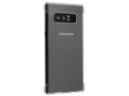 Gel Case with Bumper Edges for Samsung Galaxy Note8 - Clear Soft Cover