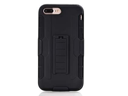 Rugged Case with Holster Belt Clip for iPhone 8 Plus/7 Plus - Classic Black Impact Case
