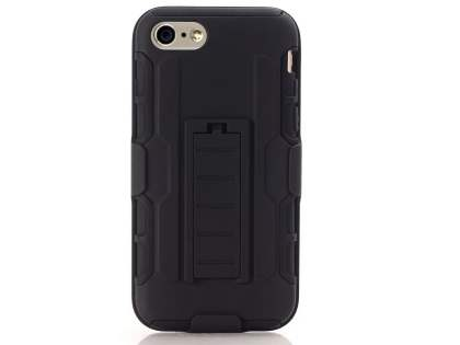 Rugged Case with Holster Belt Clip for iPhone 8 - Classic Black Impact Case