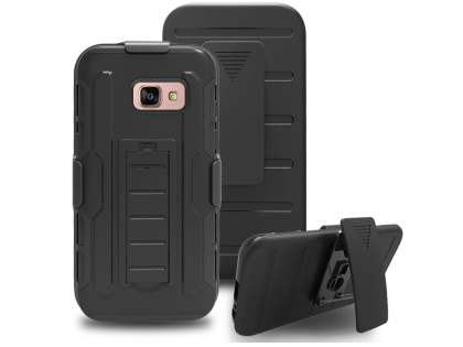 Rugged Case with Holster Belt Clip for Samsung Galaxy A5 (2017) - Classic Black
