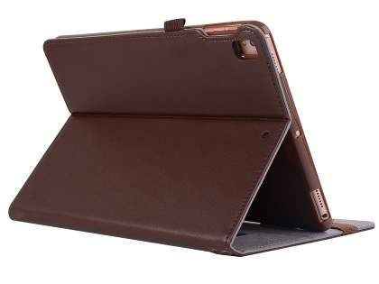 Genuine Leather Case with Stand for iPad 9.7 (2018/2017) / Pro 9.7 / Air 2 / Air - Brown Leather Flip Case