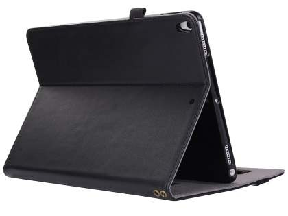 Genuine Leather Case with Stand for iPad Pro 10.5 - Black Leather Flip Case