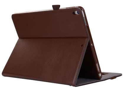 Genuine Leather Case with Stand for iPad Pro 10.5 - Brown Leather Flip Case