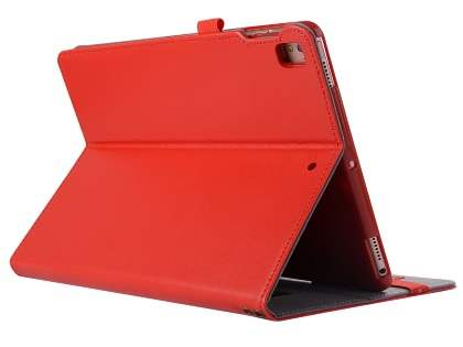 Genuine Leather Case with Stand for iPad 9.7 (2018/2017) / Pro 9.7 / Air 2 / Air - Red Leather Flip Case