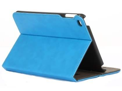 Synthetic Leather Case with Stand for iPad Mini 4 - Sky Blue Leather Flip Case