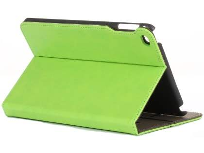 Synthetic Leather Case with Stand for iPad Mini 4 - Green Leather Flip Case