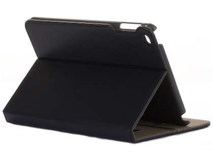 Synthetic Leather Case with Stand for iPad Mini 4 - Black Leather Flip Case